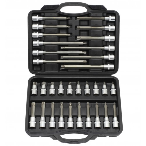 "TRX-Star Socket Bit Set 32pc - 1/2"" Sq Drive"