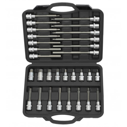 "Hex Socket Bit Set 30pc - 1/2"" Sq Drive"